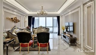 古典欧式风格别墅客厅装修效果图