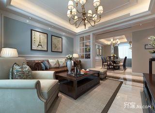 145平米美式风格客厅装修效果图
