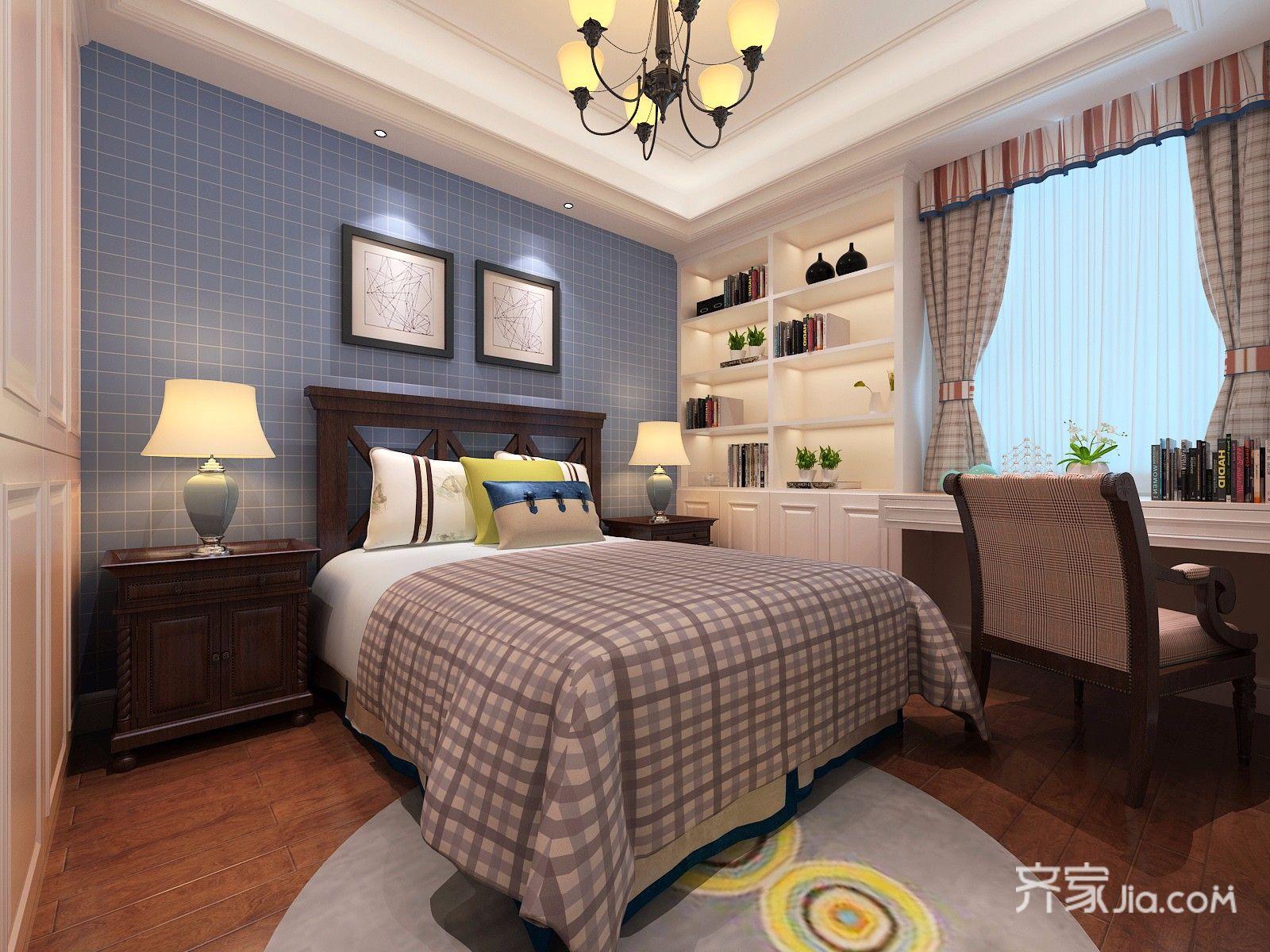 145平米美式风格卧室装修效果图