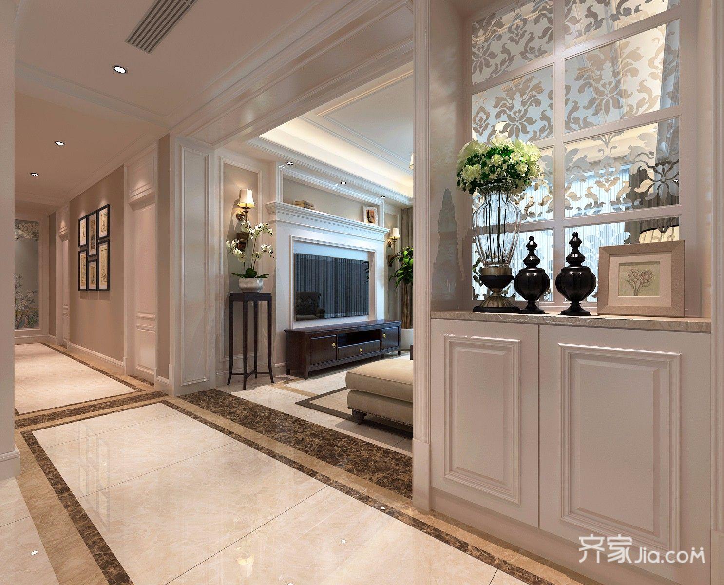 145平米美式风格走廊装修效果图