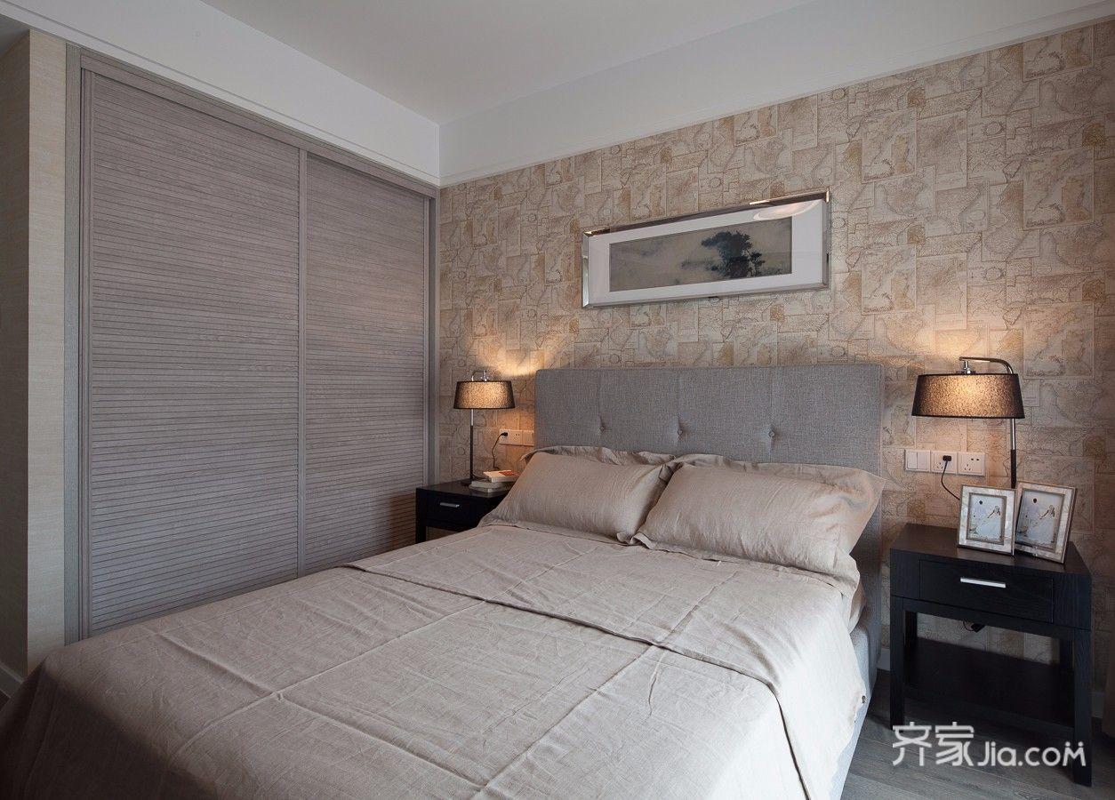 125平现代简约卧室装修效果图