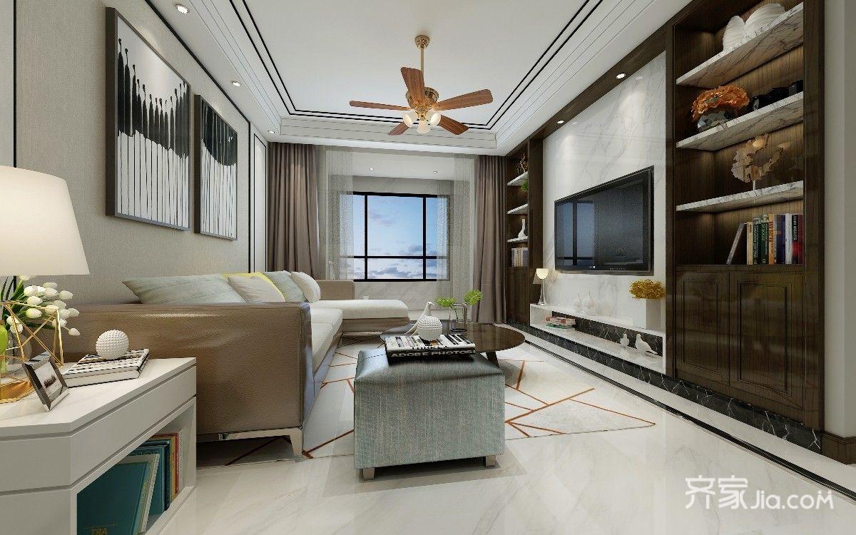 现代港式风格客厅装修效果图