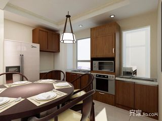 现代简约中式厨房装修效果图