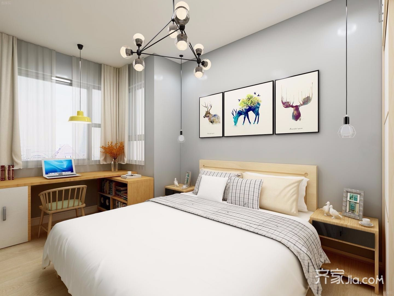 110平米简约风格卧室装修效果图