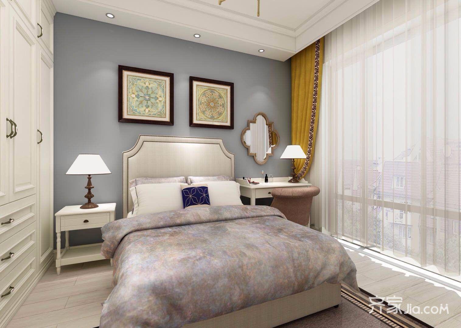美式风格卧室装修效果图