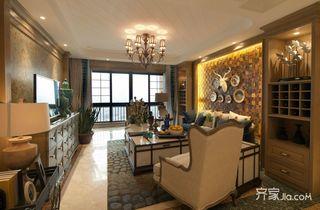 115㎡东南亚风格客厅装修效果图