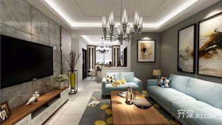 110平现代风格客厅装修效果图