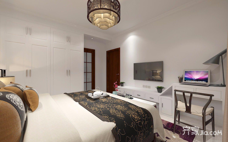 140㎡新中式风格卧室装修效果图