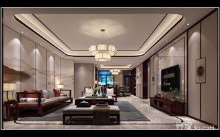 200平中式风格客厅装修效果图