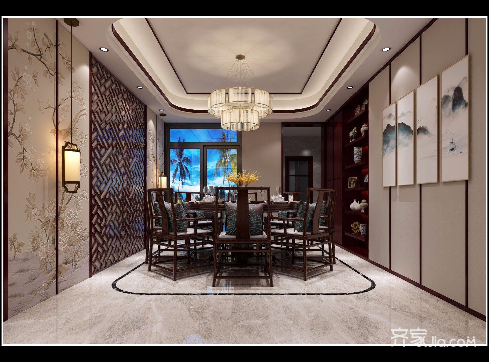 200平中式风格餐厅装修效果图