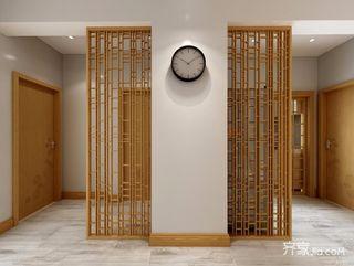日式风格三居玄关隔断装修效果图