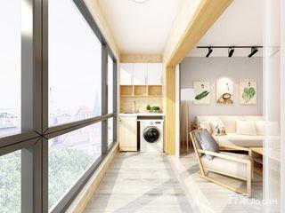 日式风格三居阳台装修效果图