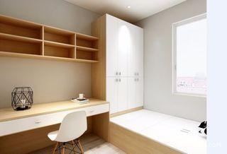 日式风格三居榻榻米书房装修效果图