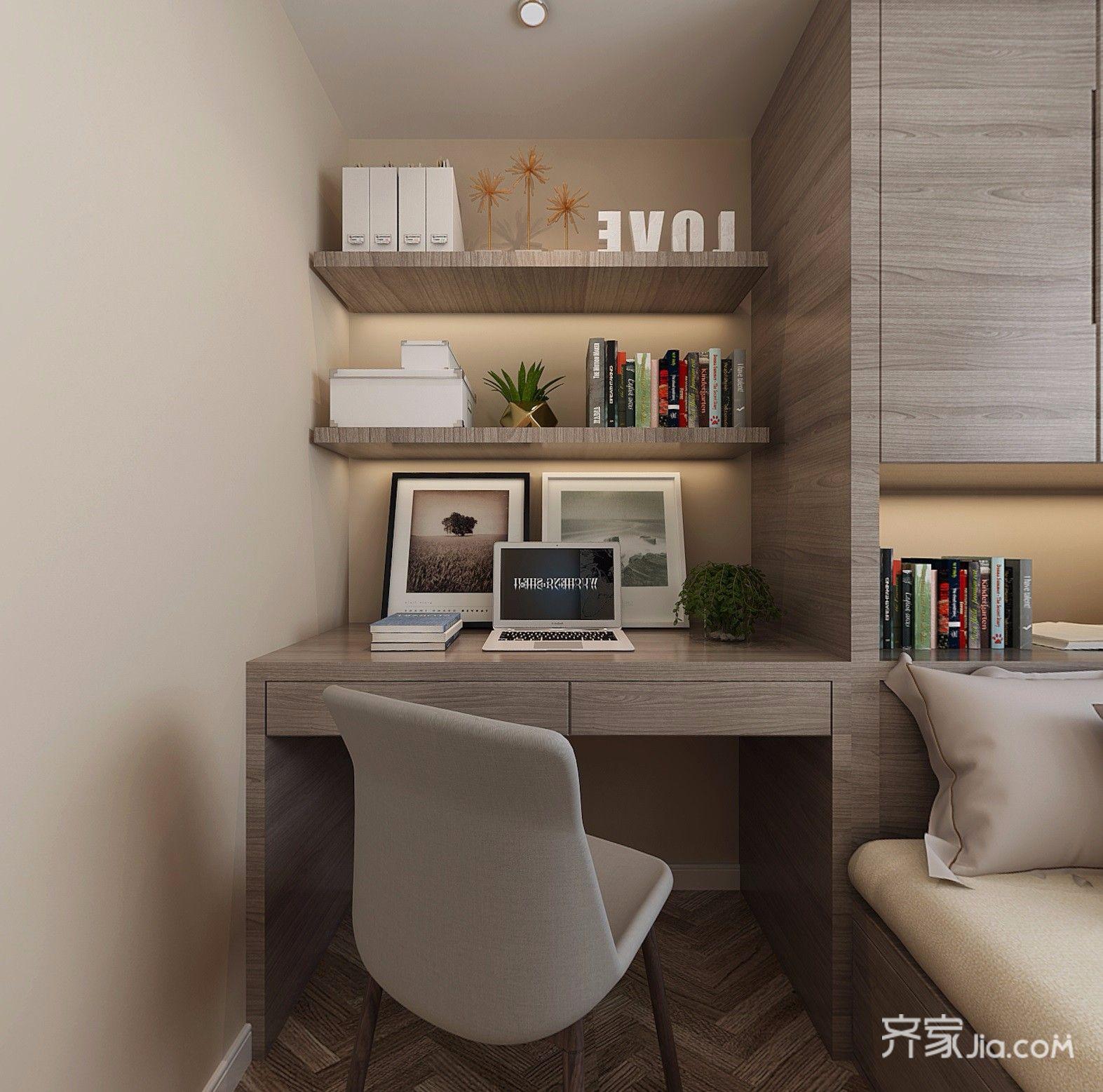 108平现代简约书桌设计效果图