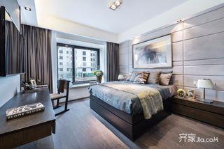 110平现代三居卧室装修效果图