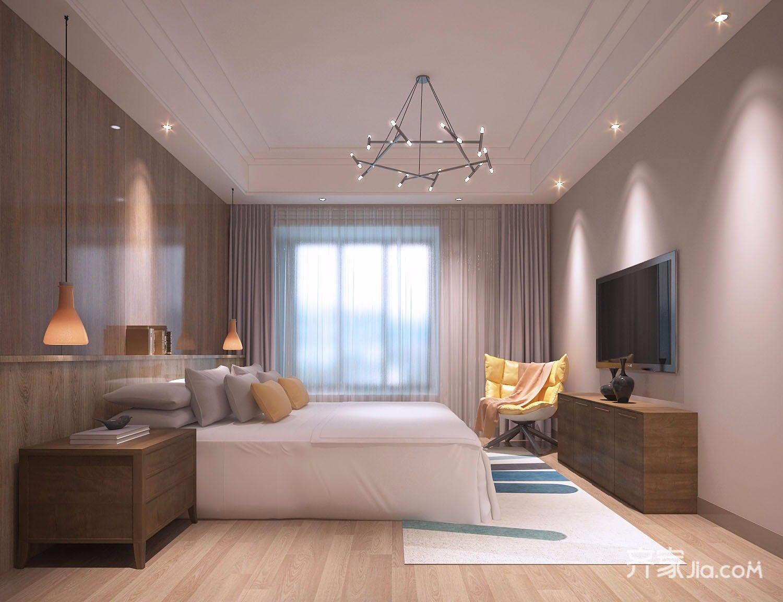 现代简约风大户型卧室装修效果图
