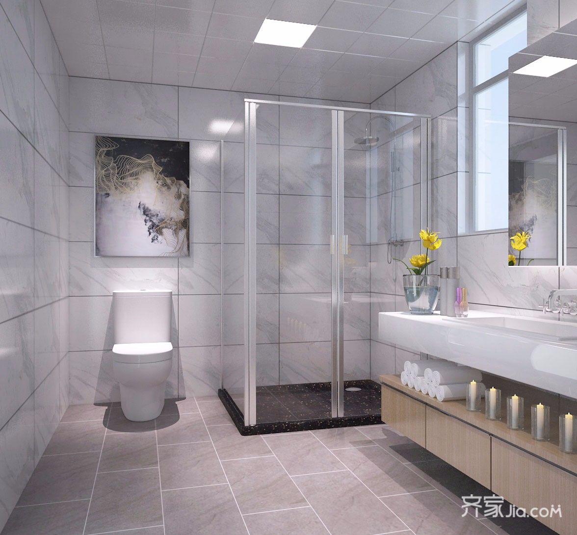 现代简约风大户型卫生间装修效果图
