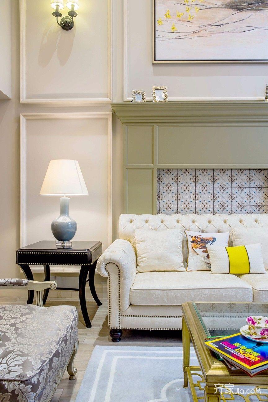 大户型复式美式装修沙发一角