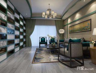 120平三居新中式客厅装修效果图