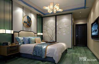 120平三居新中式卧室装修效果图