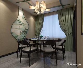 120平三居新中式餐厅装修效果图