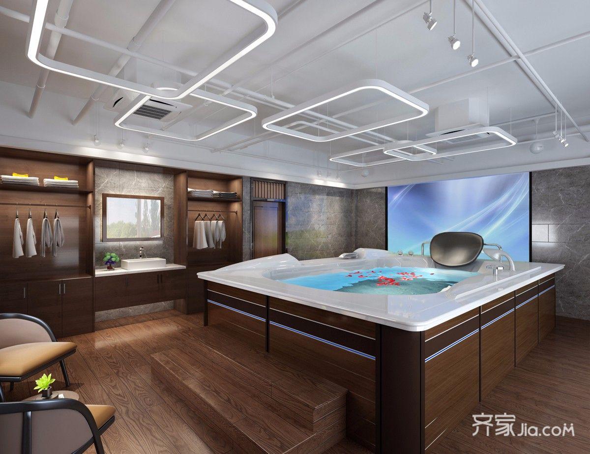 中式风格大户型别墅卫生间装修效果图
