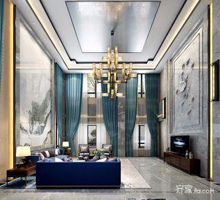 中式风格大户型别墅装修效果图