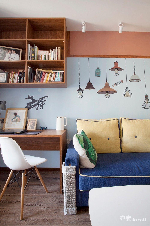 小户型一居室沙发背景墙装修效果图