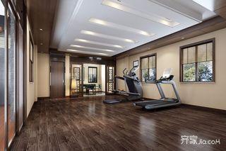 中式风格大户型别墅健身房装修效果图