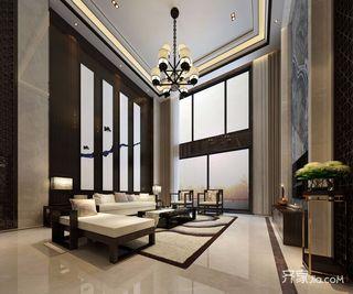中式风格别墅客厅设计效果图