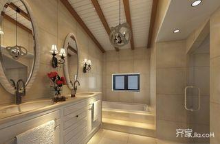 美式风格复式别墅卫生间装修效果图