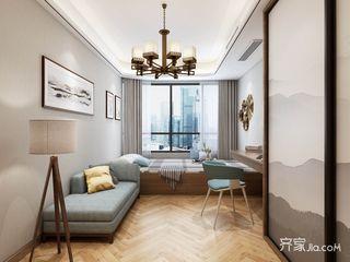 新中式大户型书房装修设计效果图