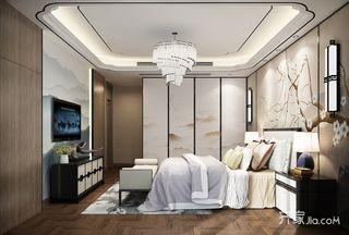 新中式大户型卧室装修设计效果图