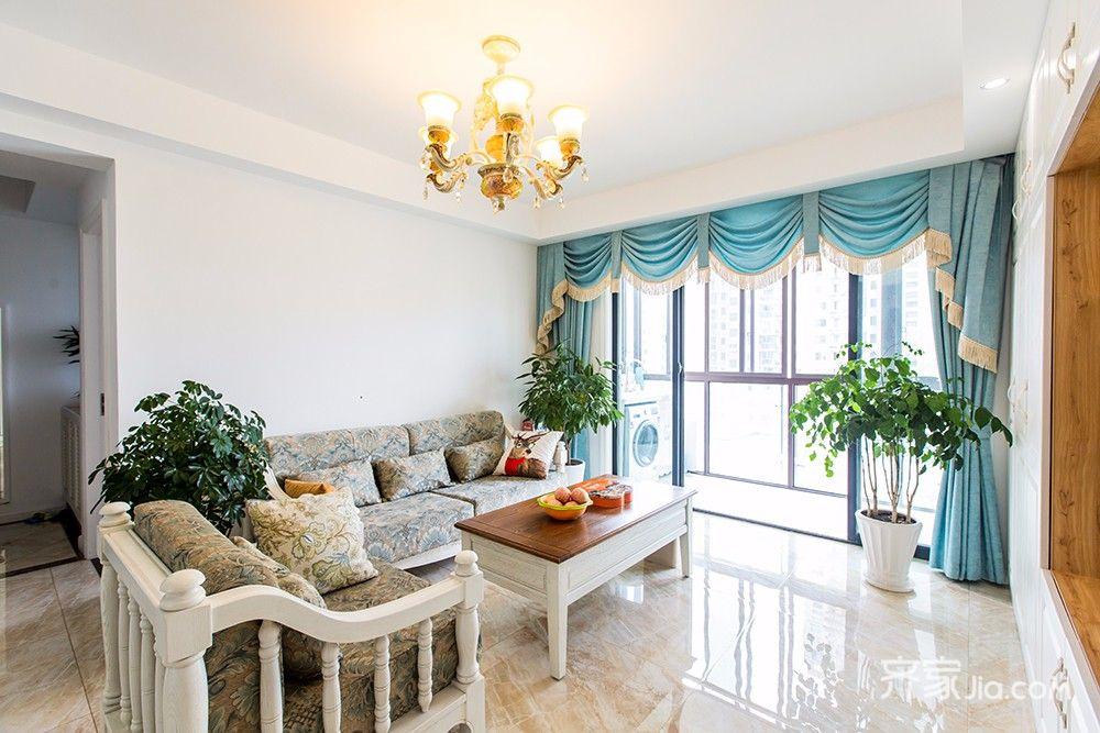 145平美式风格四居装修沙发背景墙效果图