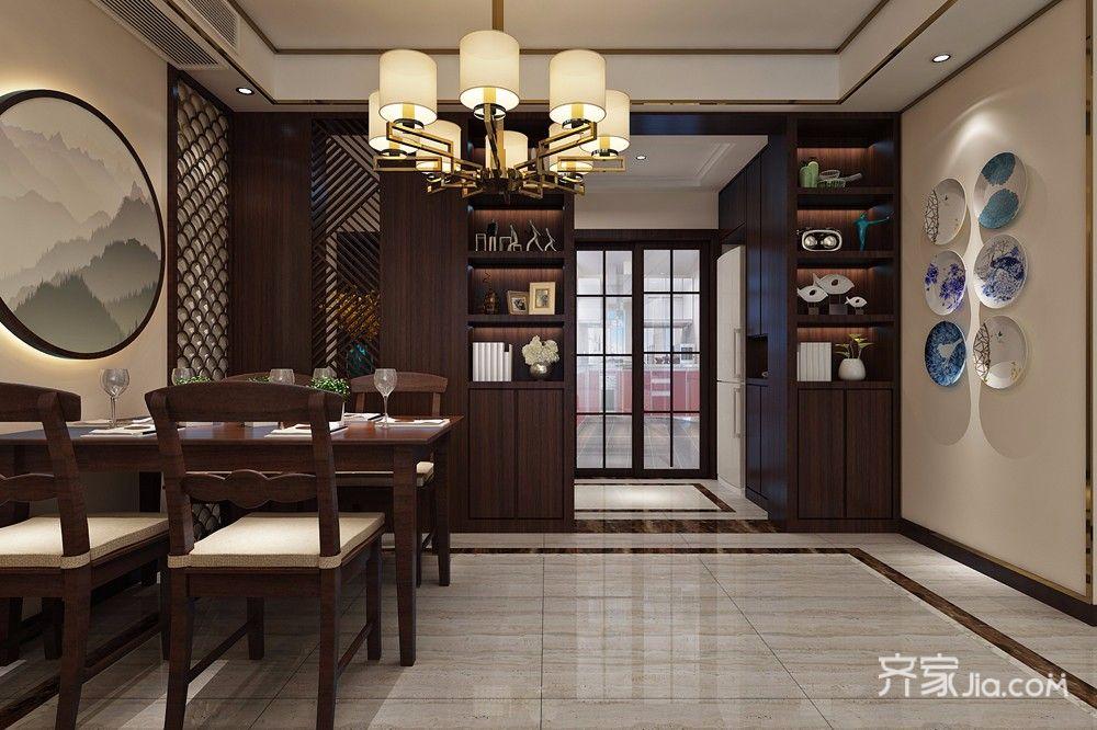 新中式风餐厅装修效果图