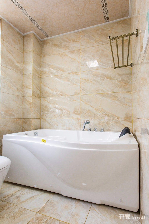 145平美式风格四居卫生间装修效果图