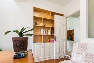 145平美式风格四居装修书柜设计图