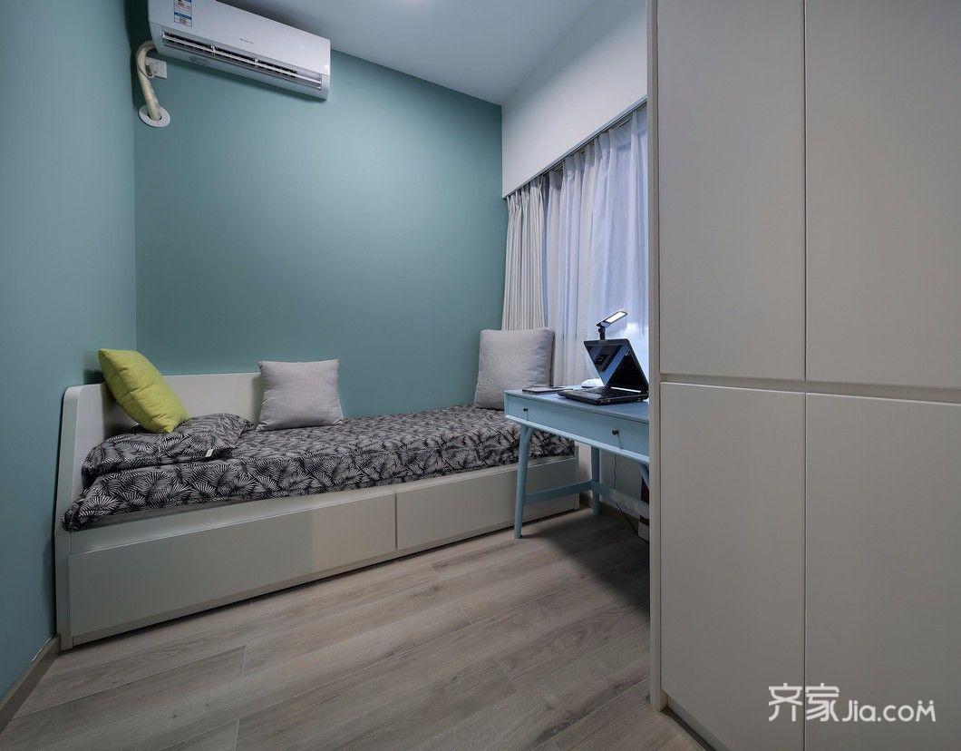 89㎡简约风格三居卧室装修设计图
