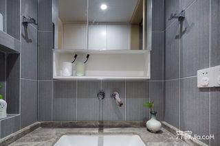 89㎡简约风格三居装修洗手台设计图