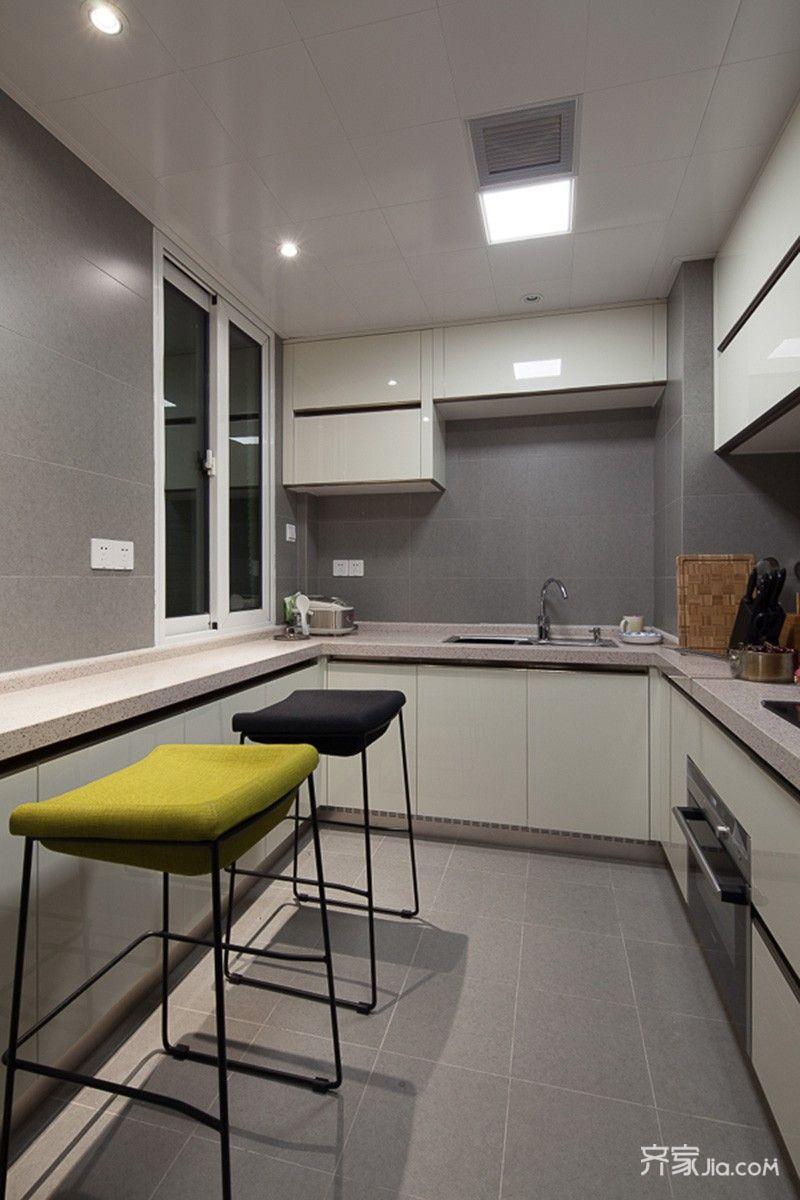 95平现代简约两居厨房装修效果图