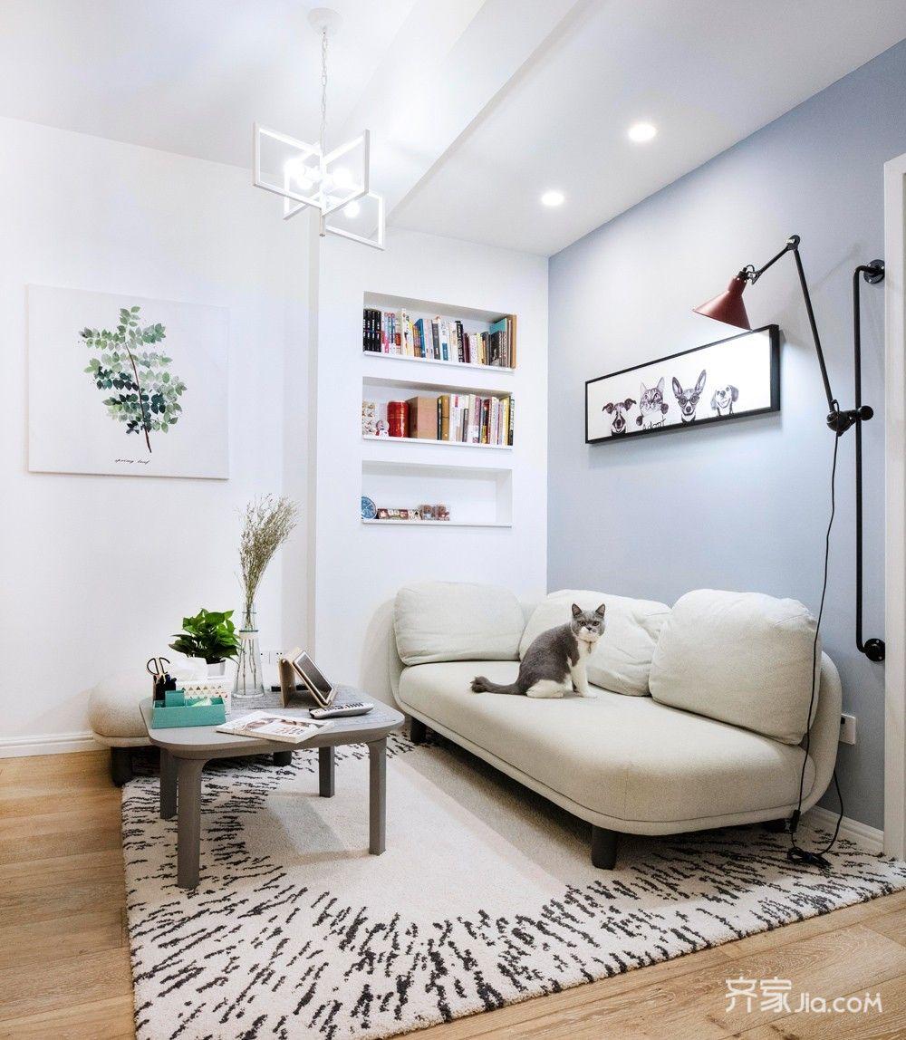 小户型北欧二居室客厅装修效果图