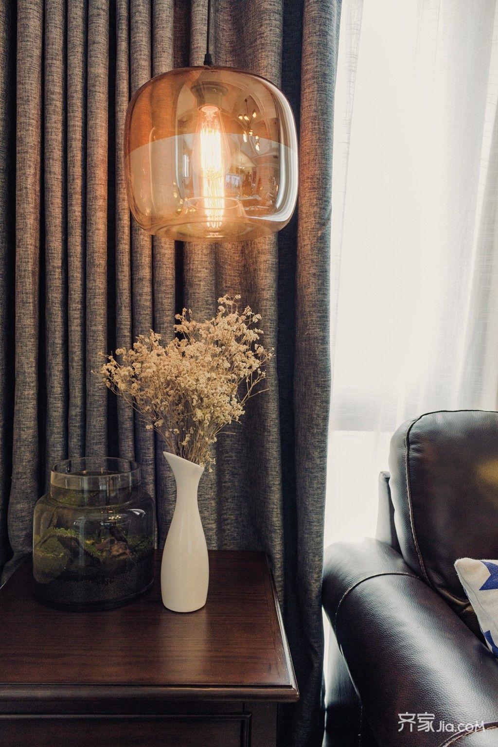 90㎡美式风格二居装修吊灯效果图