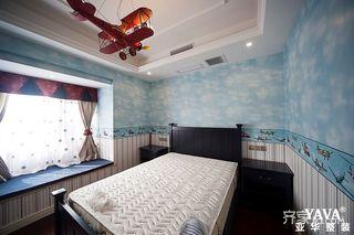 90平三居美式风格儿童房装修效果图