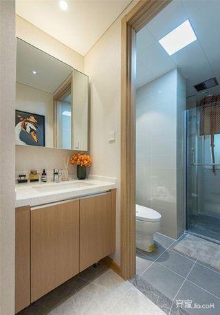 90㎡现代风格三居卫生间装修设计图
