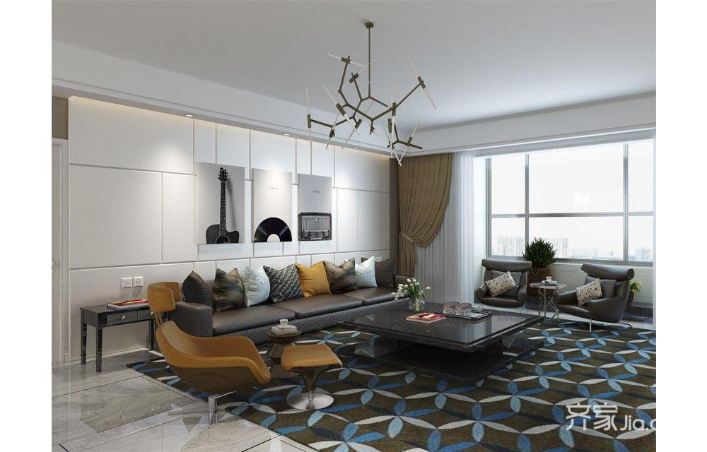 混搭风格四居室沙发背景墙装修效果图