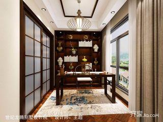 140㎡新中式四居书房装修效果图