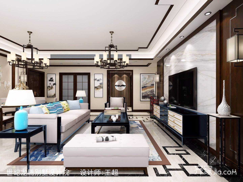 140㎡新中式四居客厅装修效果图
