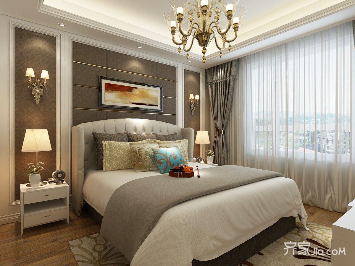 150㎡三居欧式风格卧室装修效果图