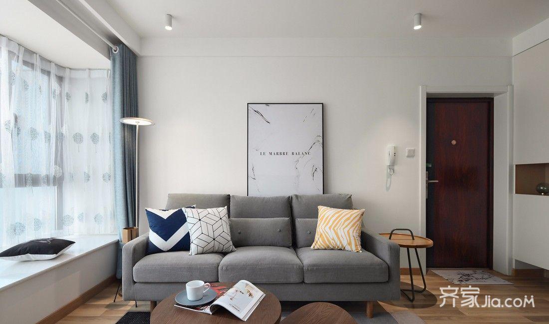 100平简约北欧两居装修沙发效果图
