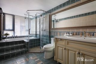 120平三居美式风格卫生间装修设计图